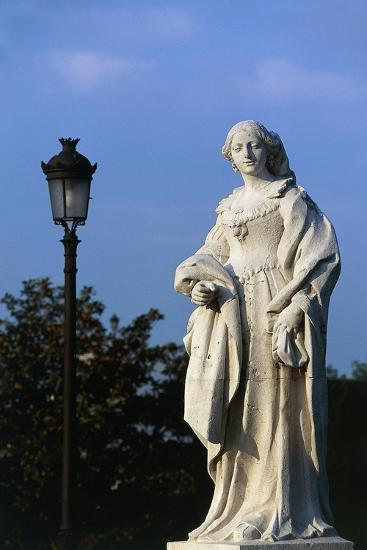 Statue of Woman, Royal Palace and Sabatini Gardens, Madrid, Spain--Giclee Print