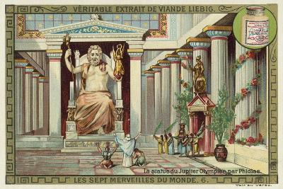 Statue of Zeus at Olympia, Greece--Giclee Print
