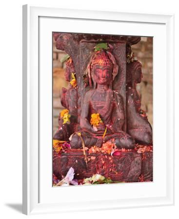 Statue, Patan, Bagmati, Central Region (Madhyamanchal), Nepal, Asia-Jochen Schlenker-Framed Photographic Print