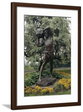 Statue to the Worker, Warsaw, Mazowieckie, Poland--Framed Giclee Print