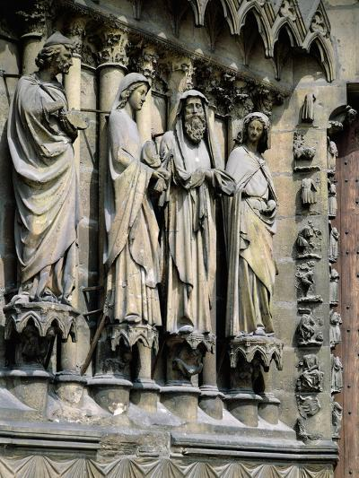 Statues from Central Entrance--Giclee Print