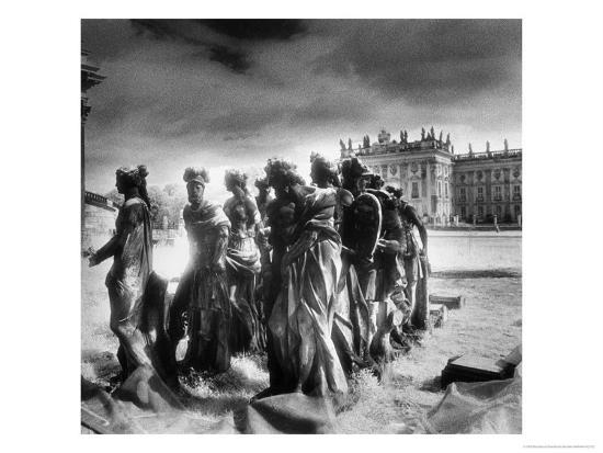 Statues Infront of the Neus Palais, Potsdam, Germany-Simon Marsden-Giclee Print