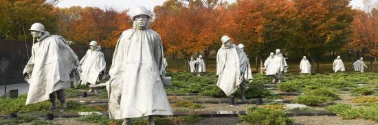Statues of Army Soldiers in a Park, Korean War Memorial, Washington DC, USA--Photographic Print