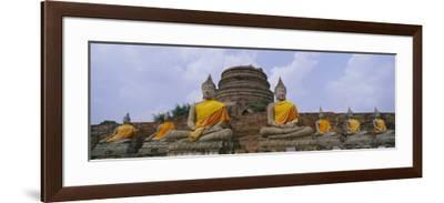 Statues of Buddha in a Temple, Thailand--Framed Photographic Print
