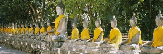 Statues of Buddha in a Temple, Wat Yai Chai Ya Mongkhon, Ayuthaya, Thailand--Photographic Print