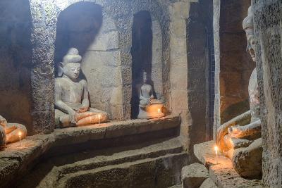 Statues of Buddha, Pagoda of Andaw, Dated 1521, Mrauk U, Rakhaing State, Myanmar (Burma), Asia-Nathalie Cuvelier-Photographic Print