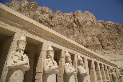 Statues of Osiris, Deir-El-Bahri (Hatshepsut's Temple), West Bank-Richard Maschmeyer-Photographic Print