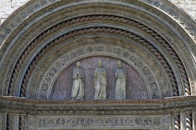 Statues of Patron Saints, Lunette from Main Entrance, Palazzo Dei Priori--Giclee Print