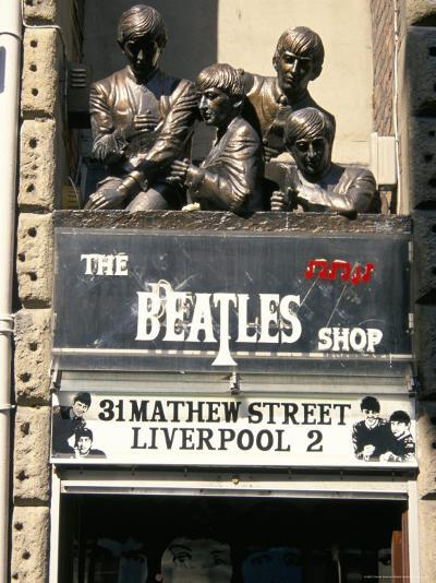 Statues of the Beatles, the Cavern Quarter, Liverpool, England, United Kingdom-Charles Bowman-Photographic Print