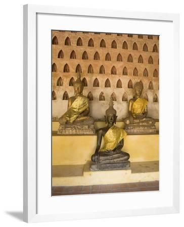 Statues of the Buddha, Wat Si Saket, Vientiane, Laos, Indochina, Southeast Asia, Asia-Richard Maschmeyer-Framed Photographic Print