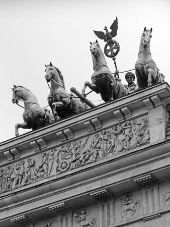 Statues on Top of Brandenburg Gate-Murat Taner-Photographic Print