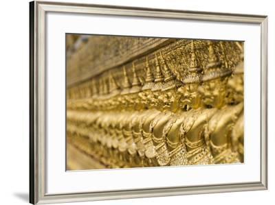 Statues Surrounding Wat Phra Kaew Temple-Design Pics Inc-Framed Photographic Print
