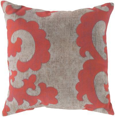 Statuesque Scroll Pillow - Coral--Home Accessories