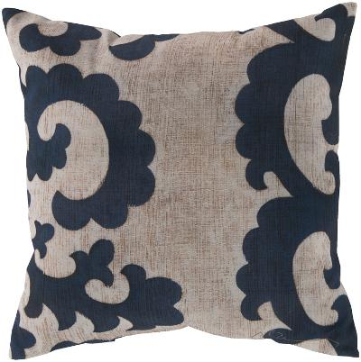 Statuesque Scroll Pillow - Navy--Home Accessories