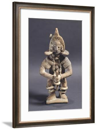 Statuette Depicting a Player of Pelota, Artifact Originating from Mexico--Framed Giclee Print