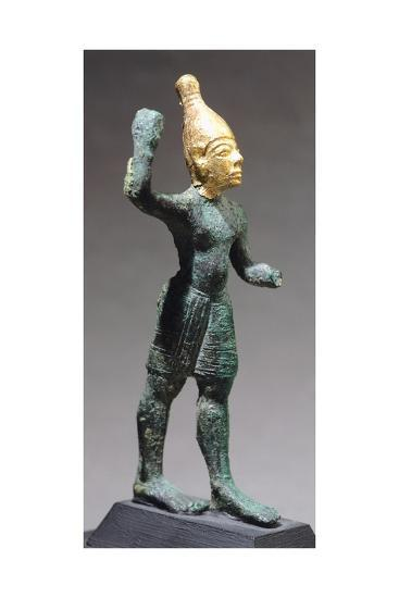 Statuette Depicting Standing God, Bronze and Gold Artefact from Ugarit--Giclee Print