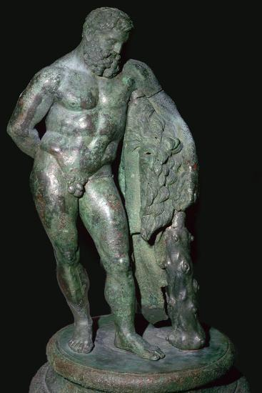 Statuette of Hercules resting. Artist: Unknown-Unknown-Giclee Print