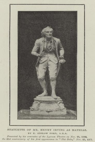Statuette of Mr Henry Irving as Mathias--Giclee Print