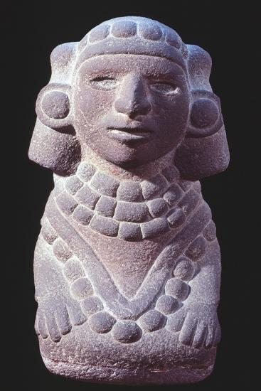 Statuette Originating from Mexico Depicting a Goddess.--Giclee Print