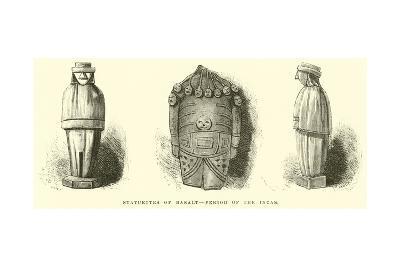 Statuettes of Basalt, Period of the Incas-?douard Riou-Giclee Print