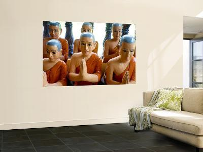 Statuettes of Buddhist Monks at Prayer-Philip Game-Wall Mural