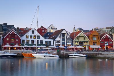 Stavanger's Picturesque Harbor Illuminated at Dusk-Doug Pearson-Photographic Print
