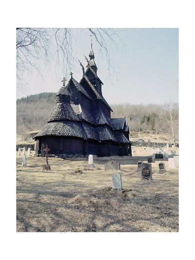 Stave Church at Fagusnes, Borgund--Giclee Print