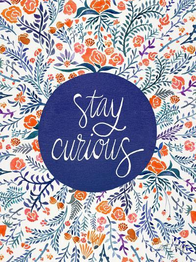 Stay Curious Red Navy-Cat Coquillette-Art Print