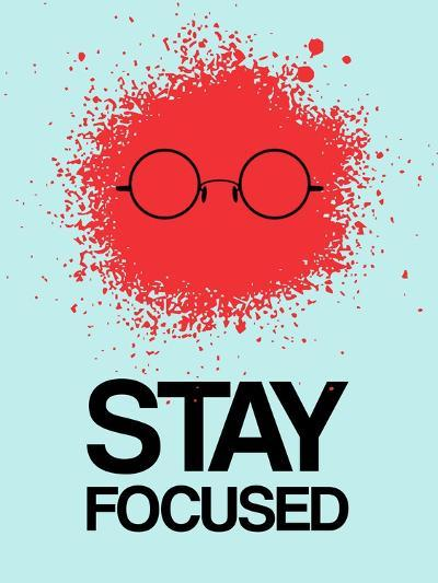 Stay Focused Splatter 1-NaxArt-Art Print