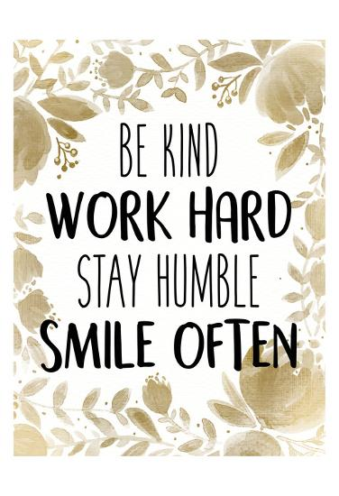 Stay Humble 1-Kimberly Allen-Art Print
