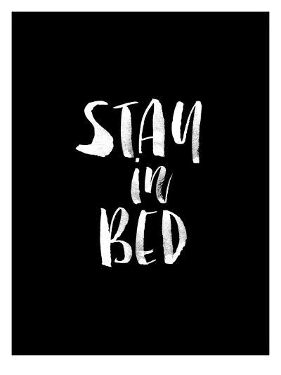 Stay In Bed BLK-Brett Wilson-Art Print