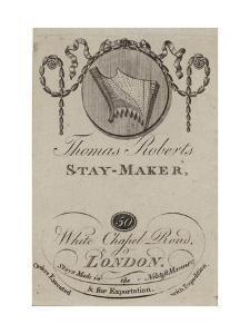 Stay Maker, Thomas Roberts, Trade Card