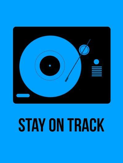 Stay on Track Blue-NaxArt-Art Print