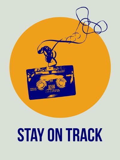 Stay on Track Circle 2-NaxArt-Art Print