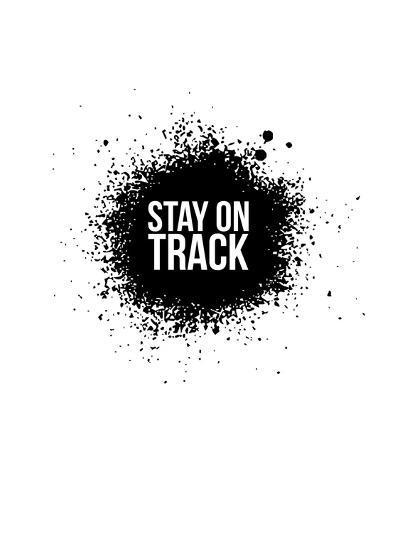 Stay on Track White-NaxArt-Art Print