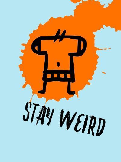 Stay Weird 1-Lina Lu-Art Print
