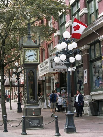 Steam Clock in Gastown, Vancouver, British Columbia, Canada-Alison Wright-Photographic Print