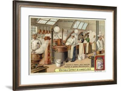 Steam Cooking, for Barracks, Hospitals and Large Establishments--Framed Giclee Print