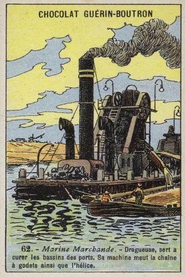 Steam Dredger--Giclee Print