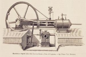 Steam Engine Designed by Franco Tosi (1850-1898), 1880, Italy, 19th Century