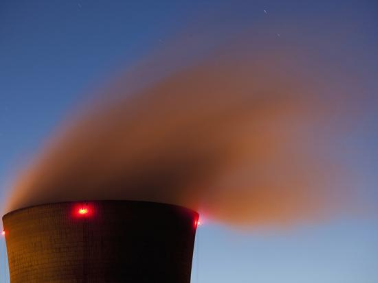 Steam from Cooling Tower at Three Mile Island Nuclear Power Plant, Middletown, Pennsylvania, Usa-Paul Souders-Photographic Print