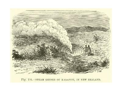 Steam Geyser of Karapiti,In New Zealand--Giclee Print