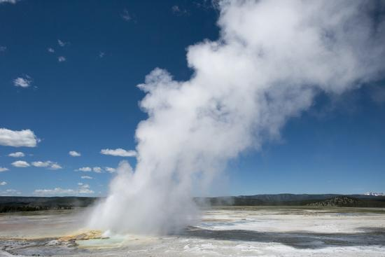 Steam Is Expelled from a Geyser in Yellowstone National Park, Wyoming-Joel Sartore-Photographic Print