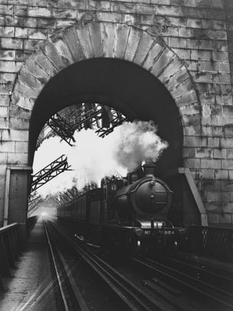 Steam Locomotive at Firth of Forth Bridge