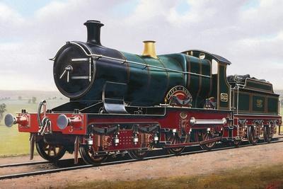 Steam Locomotive, City of Bath, England, Uk, 19th Century--Giclee Print