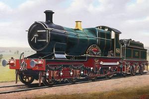 Steam Locomotive, City of Bath, England, Uk, 19th Century