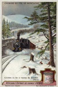 Steam Locomotive on the Brocken Railway, Harz Mountains, Germany