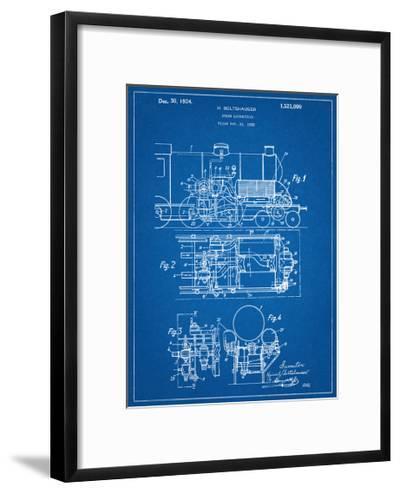 Steam Locomotive Patent--Framed Art Print