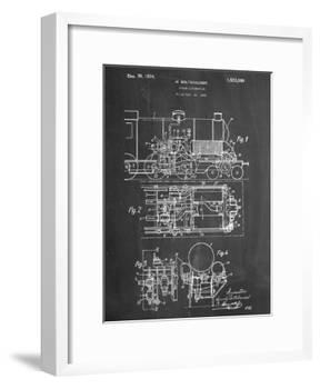 Steam Locomotive Patent-null-Framed Art Print