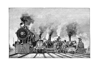Steam Locomotives, Early 20th Century-Science Photo Library-Giclee Print